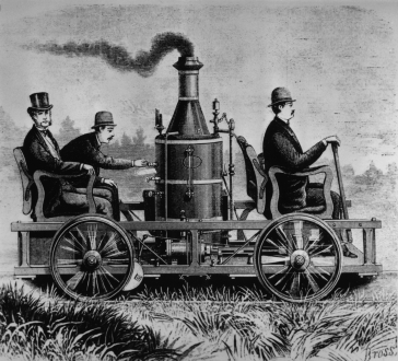 Steam car.